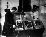 A táviratközvetitő gép használatban