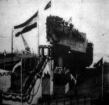 A német flotta egyik legnagyobb czirkálójának vizrebocsátása