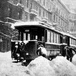 Elakadt villamos kocsik az Erzsébet-köruton