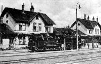 Székelyföldi vasútállomás a századelőn