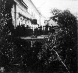 A miniszterelnökségi palota erkélye, melyen a magyar és az osztrák miniszterek a kiegyezési tárgyalásokat folytatták