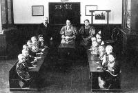 Elemi iskola tanulói és tanítói