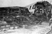 A hálókocsi romjai Dorozsmán