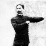 Korcsolyázó férfi 1897-ből