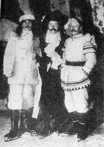 A jégünnepély főrendezői: Dezső Arthur, Márkus Jenő, Ehrlich János