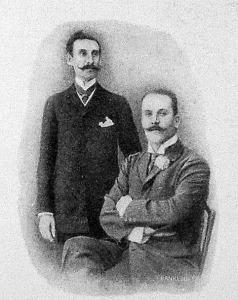 Rozan gróf és Jacques-Faure, a párisi léghajóverseny nyertesei