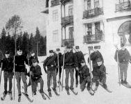 A 67-dik gyalogezred és az iglói honvédzászlóalj egyesített ski-futó osztálya