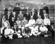A II. főiskolai bajnoki lawn-tennisz verseny résztvevői