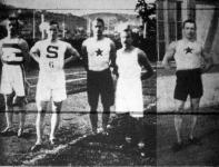 Az őszi atlétikai versenyek hősei-Kohout, Kozek, Bertalan, Helmich, Koller