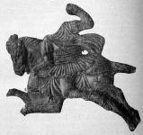 Aquincumi görög lovas agyagszobrocskája
