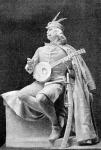 Tinódi Sebestyén szobra Bezerédi Gyulatól
