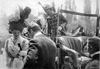 József főherczeg és Auguszta főherczegnő megérkezése a kiállitás megnyitására