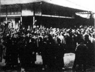 Amerika-ellenes gyűlés Yokohamában