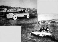 A csónak-automobil szárazon és vizen