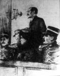 A Goold házaspár a törvényszék előtt. Az asszonyt, aki Levin Emmát megölte halálra ítélték, a férjét életfogytiglan