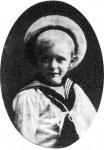 Olaf, Norvégia trónörököse, VII. Haakon norvég király és Maud angol királyi hercegnő négy éves fia