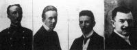 Krudy Gyula, Krudy Ferencz, Krudy Jenő, Landau Samu, a hamisított végrendeletben szereplő tanúk, akiket Losonczon letartóztattak