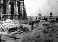 A budavári Mátyástemplom előtti terület, ahol Stibor vajda fiának érdekes sirhelyét megtalálták