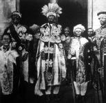 Menelik, Abesszínia császárja, akiről az a hír volt elterjedve, hogy haldoklik