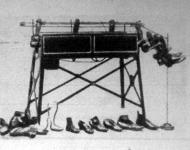 Czipő-fényesítő gép