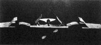 A lapátkerék-repülőgép modellje előlnézetben