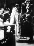 A bal sarokban II. Lipót utolsó arczképe. A nagyobb kép az utolsó nyilvános királyi aktust mutatja, amikor a brüggei uj tengeri kikötőt megnyitotta