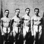 A Ferenczvárosi Torna Club staféta-csapata: Donáth L., Nagy J., Fühl J., Tóbiás Z.