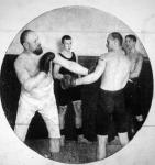A berlini Box Club iskolájának egyik gyakorló órája