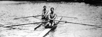 A hamburgi nemzetközi regatta verseny két magyar győztese: ifj. Graf Vilmos és Levitzky Károly