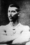 Erődy Béla ( Bpesti Posta- és Távirda Tisztv. Sp.- E.) az első magyar tornászbajnokság győztese
