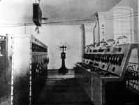 A 70,000 volt erejű áram kapcsoló terme az újpesti főtelepen