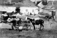 Deák-Ébner Lajos (1850 - 1934): Korcsma előtt
