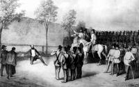 Gróf Batthyány Lajos volt miniszterelnökünk kivégzése