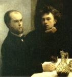 Verlaine és Rimbaud - Henri Fantin-Latour festménye