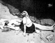 Lemminkanen anyja  - Akseli Gallén műve