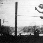 Dr. Somody István magasugrása a londoni olympiádon