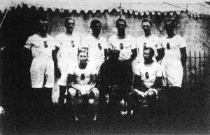 Az olimpiászon résztvevő magyar nyolcas.