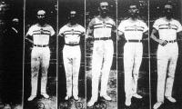 Az olympiászon résztvevő magyar tornász csapat: