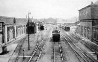 A Nyugati-pályaudvar a Ferdinánd-hídrol nézve