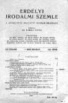 Az Erdélyi Irodalmi Szemle első számának fedőlapja. Kiadja a Minerva Irodalmi és Nyomdai Műintézet Részvénytársaság, 1924. Ára 20 lej.