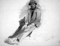 Mednyánszky László: Ülő csavargó (1905)