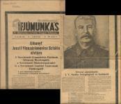 Sztálin haláláról az 1953-as Ifjúmunkás első oldalán