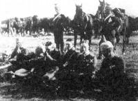 A német trónörökös és tiszttársai