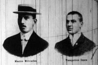 Manno Miltiades és Vampetics Imre gyorskorcsolyázók