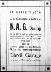 A Bárdi Garage hirdetése