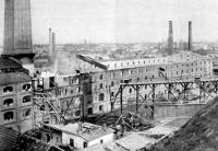 A budapest-ujlaki tégla és mészégetőgyár leégett telepe;