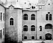 Földrengés Kecskeméten - a városháza udvari része