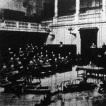 Az első Magyar Országos Testnevelési Kongresszus ülése a régi képviselőházban