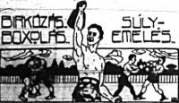 Birkózás, box, súlyemelés karikatúra