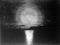 Az éjféli nap fényképe, a melyet egy merész fényképész készitett